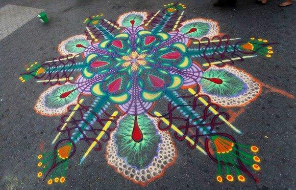 Рисунки выполненные песком