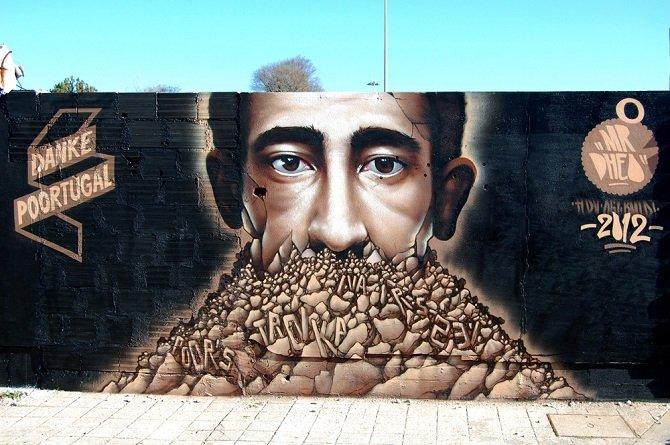Работы уличного художника MrDheo