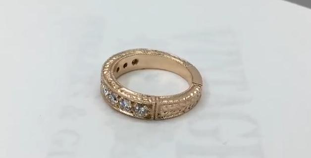 Процесс изготовления золотого кольца с бриллиантами
