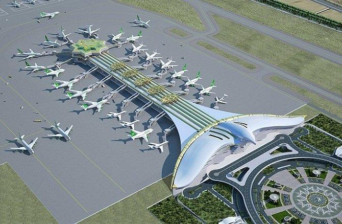 Потрясающий аэропорт «Летящий сокол» строится в Туркменистане