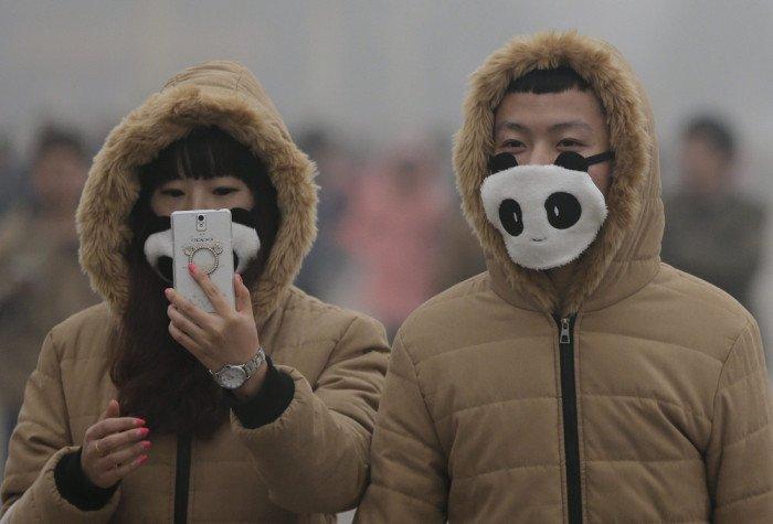 Новый тренд в Китае: модные марлевые повязки (22 фото)