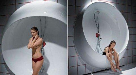 Интересный проект ванны, которая может превратиться в душ