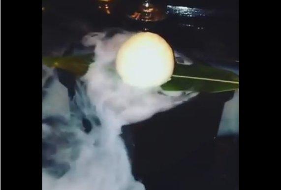 «Дымящийся» десерт