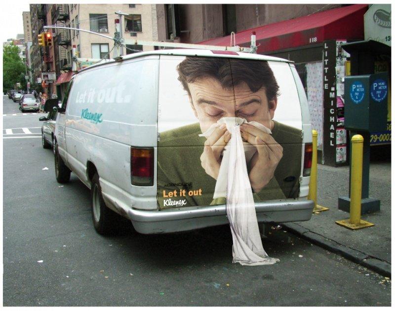 Необычная уличная реклама