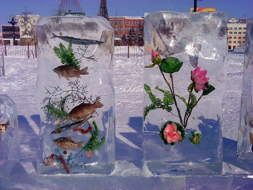 Оригинальные ледяные скульптуры