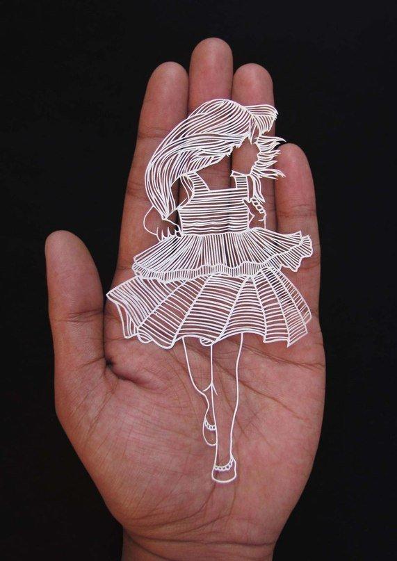 Необыкновенная резьба по бумаге от Parth Kothekar