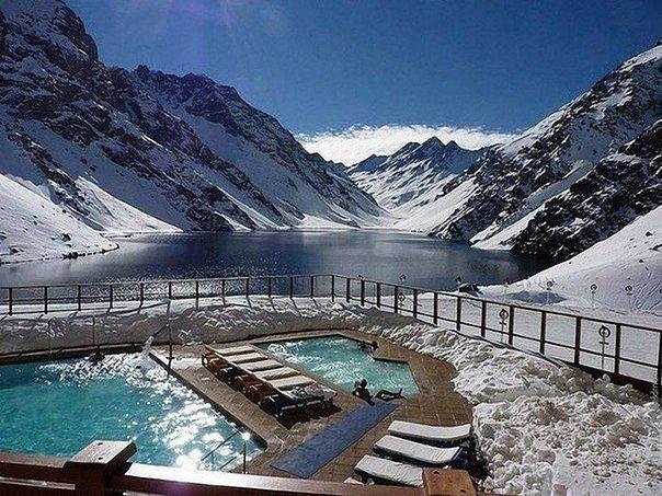 Уютные зимние бассейны