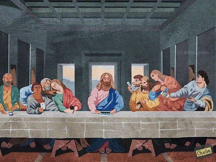 Cаркастические рисунки Антона Гудима (40 картинок)
