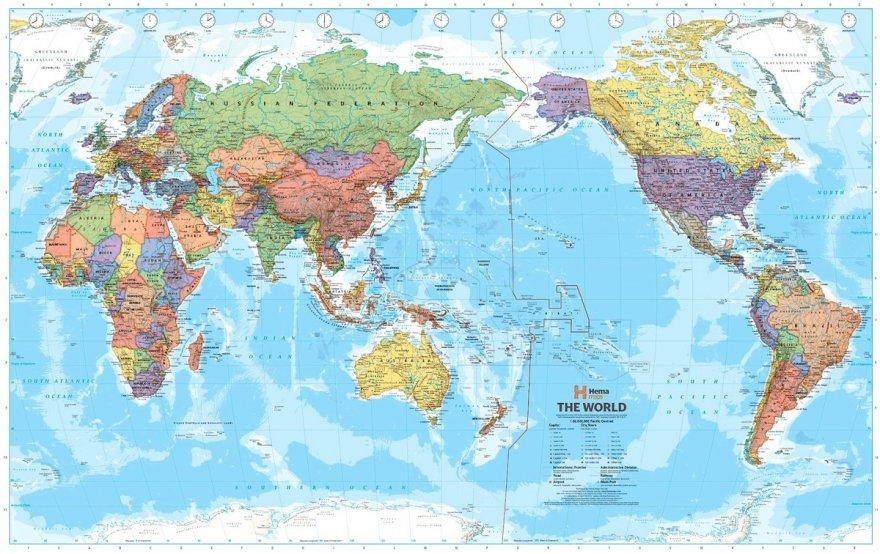 Как выглядят карты мира в разных странах