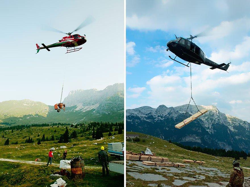 Хижина в Альпах всегда рада гостям