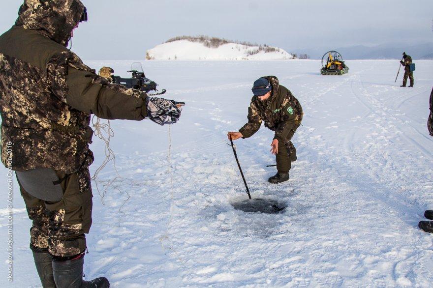 Работа рыбинспекторов на Байкале