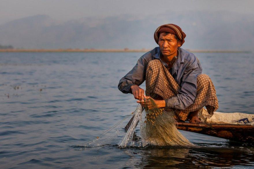 Рыбалка на озере Инле