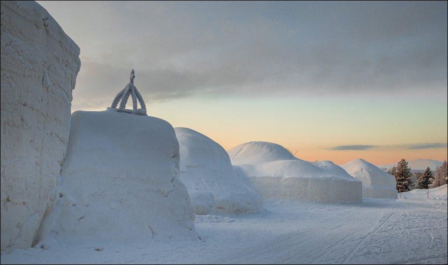 Ледяные отели морозной Лапландии