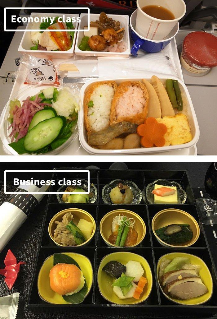 Что едят в самолётах известных авиакомпаний: эконом-класс vs бизнес-класс