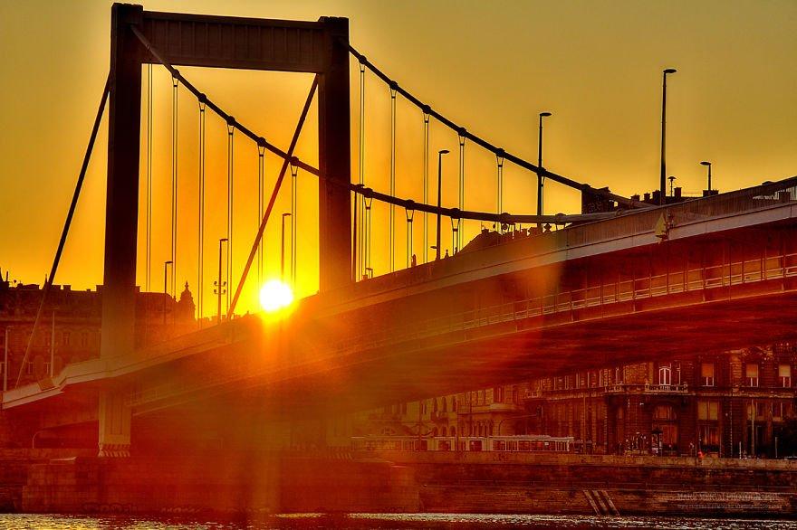 Красивые закаты и рассветы Будапешта