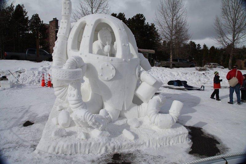 Международный чемпионат снежных скульптур в городе Брекенридж