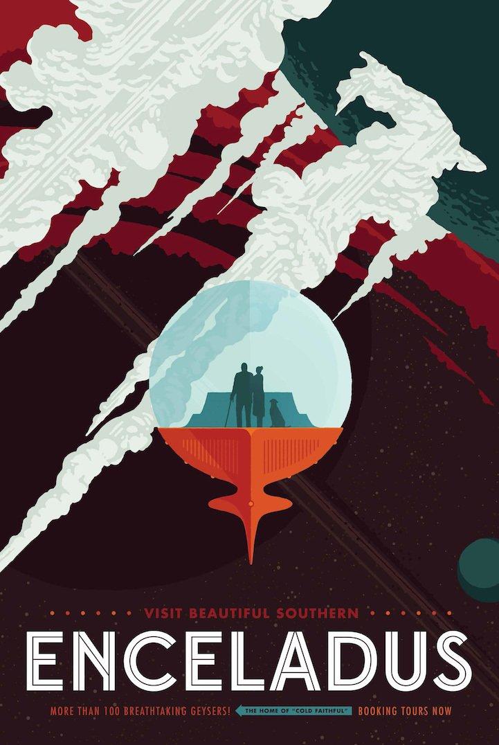 Ретро-плакаты о космических путешествиях опубликованные NASA