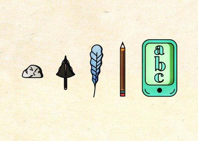 Сатирические иллюстрации об эволюции