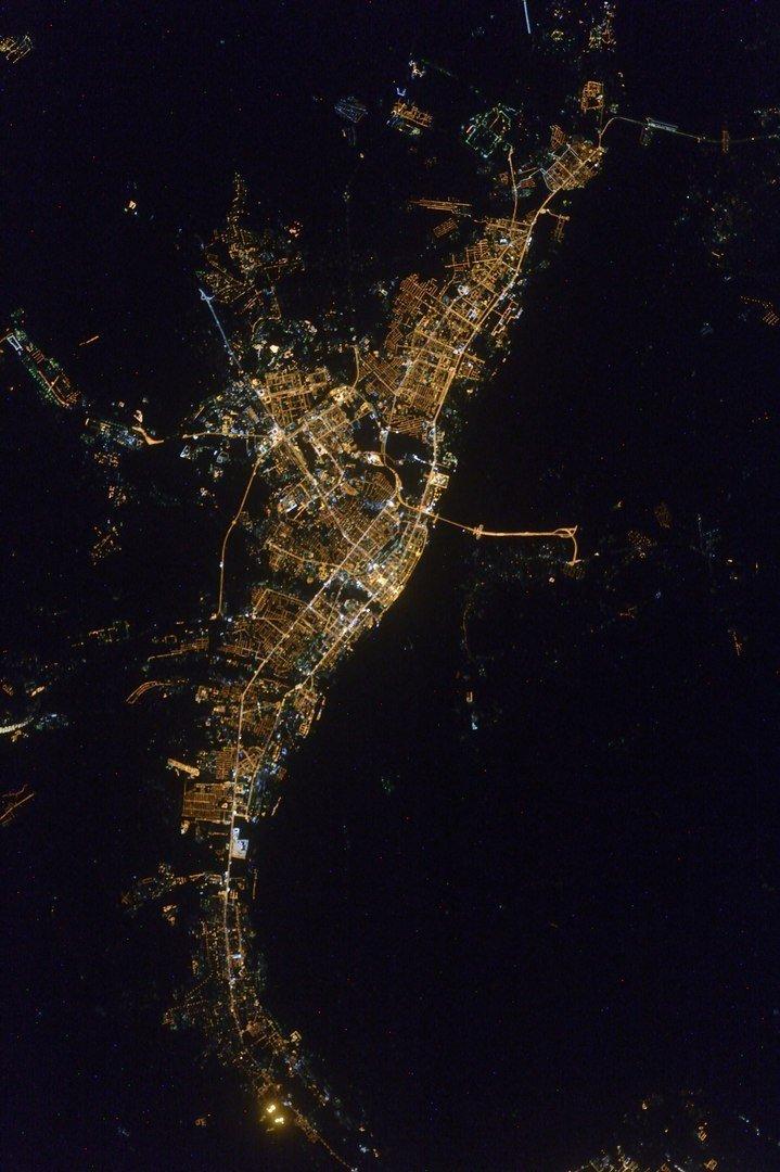 Города России: вид из космоса
