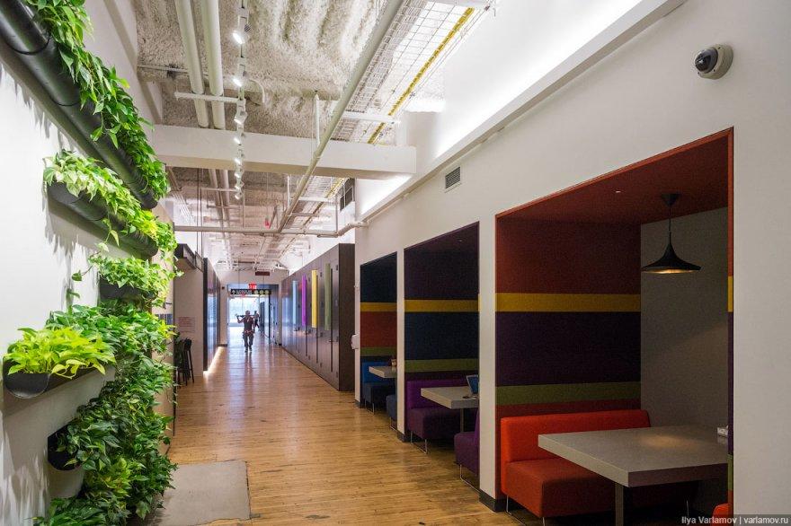 Новый необычный офис Google в Нью-Йорке