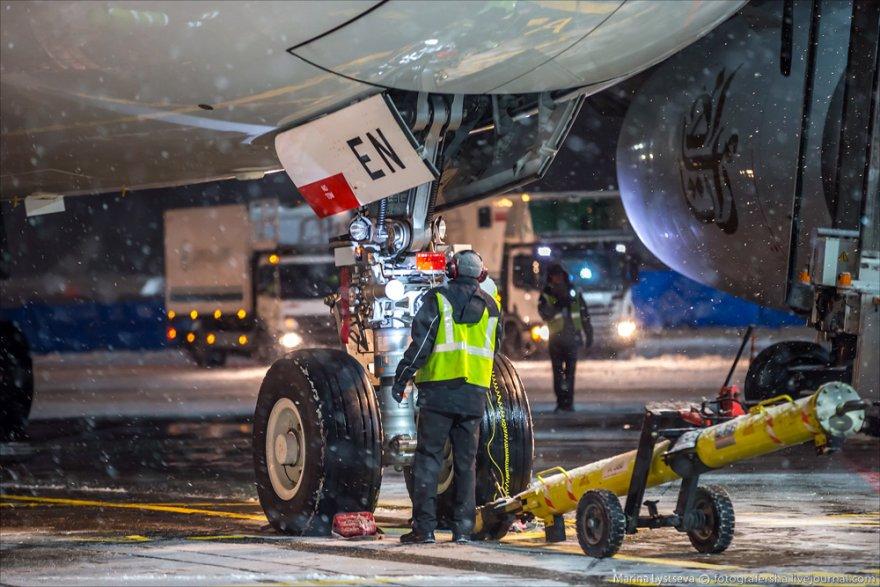 Обслуживание самого большого самолёта