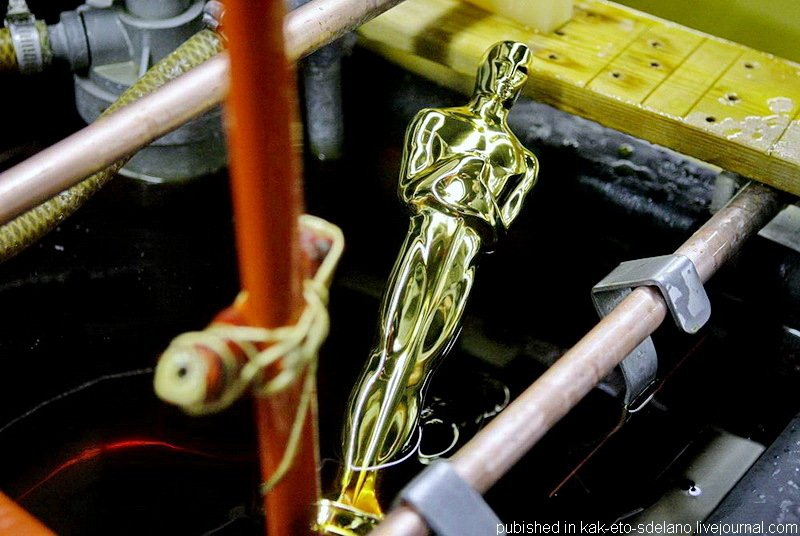 Процесс изготовления статуэтки «Оскар»