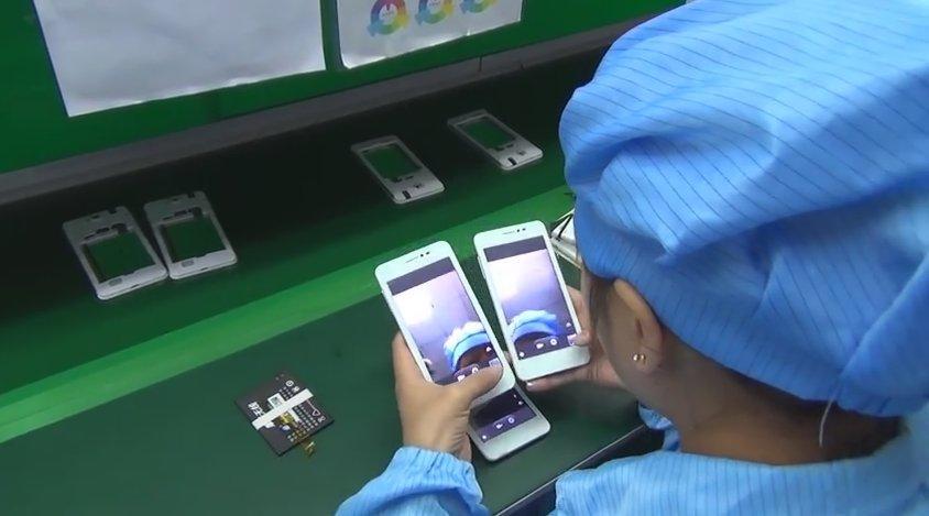 Экскурсия по производству китайских телефонов