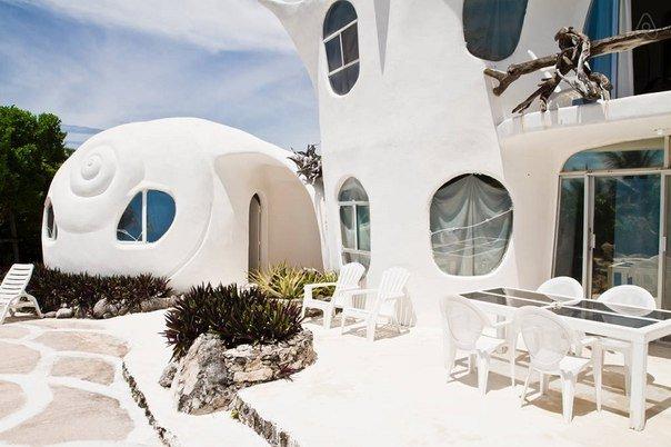 Дом-ракушка в Мексике