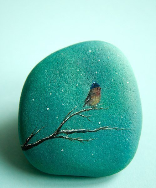Потрясающие рисунки на камнях
