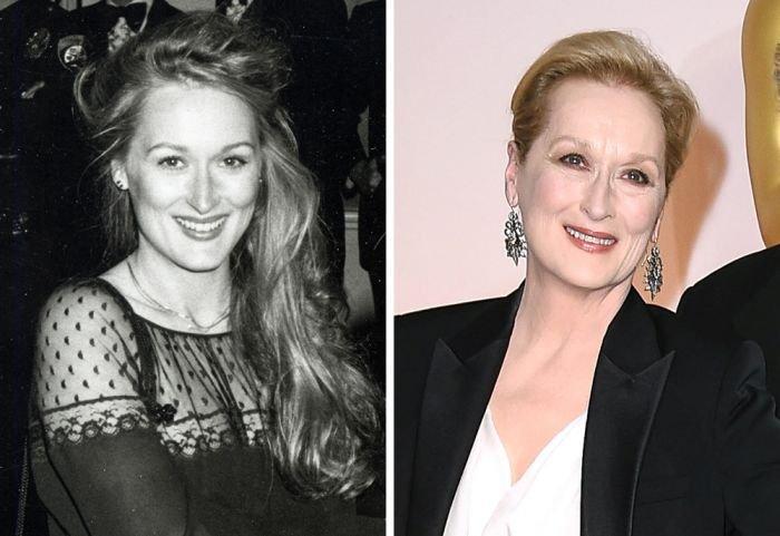 Голливудские актеры на своей первой церемонии «Оскар» и сейчас (15 фото)