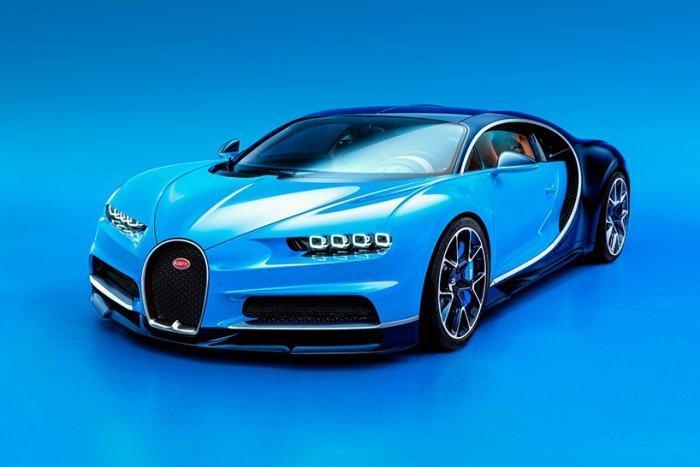 Мировая премьера гиперкара Bugatti Chiron на автошоу Geneva Motor Show 2016