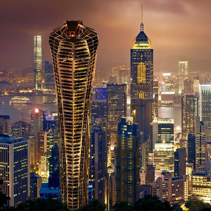 Высокий небоскреб-кобра