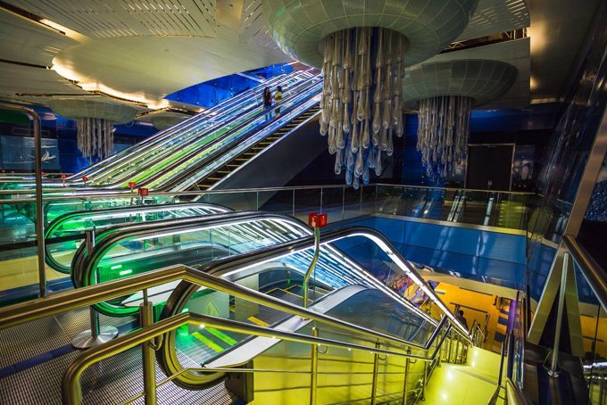 Подборка самых красивых и необычных метро в мире