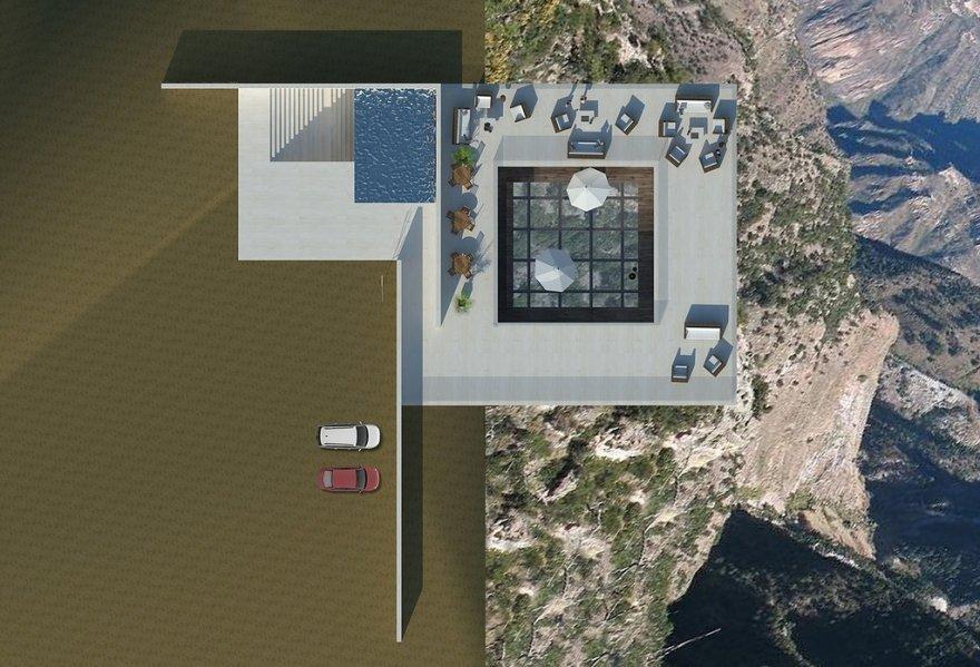 Захватывающий проект бара на скале