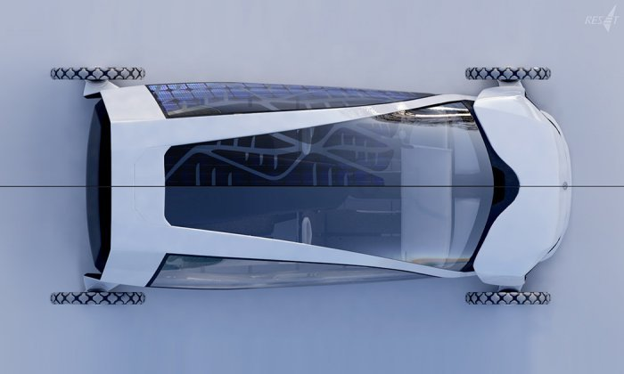Интересный концепт электромобиля-парусника