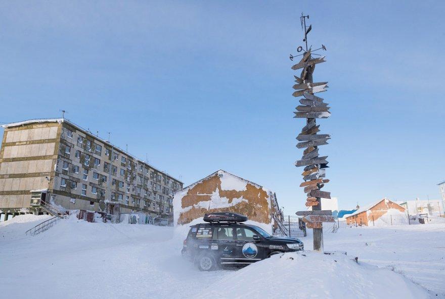 Cуровый арктический оазис за Полярным кругом