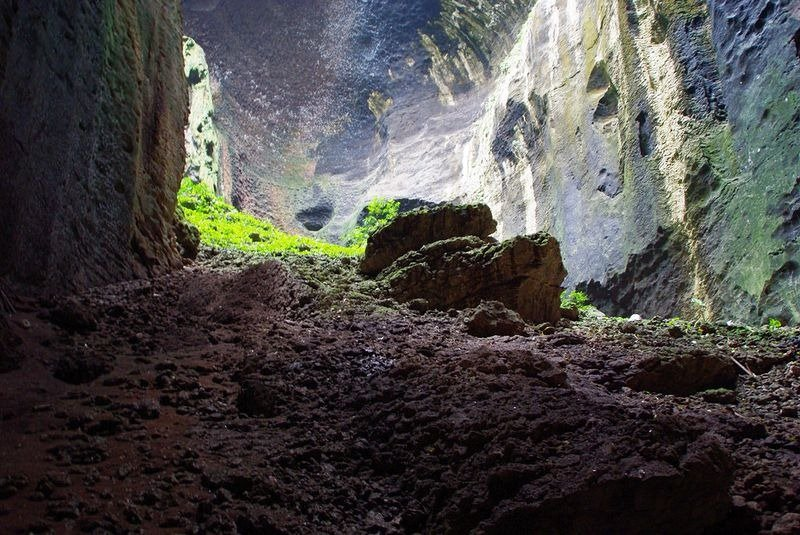 Пещера, где добывают ласточкины гнезда для супа, напитков и лекарств