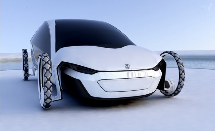 Концепт-кар Volkswagen RESeT на солнечных батареях