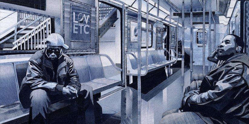 Удивительные джинсовые картины Яна Берри