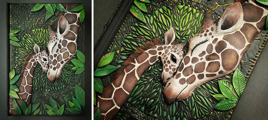 Удивительные обложки блокнотов из полимерной глины