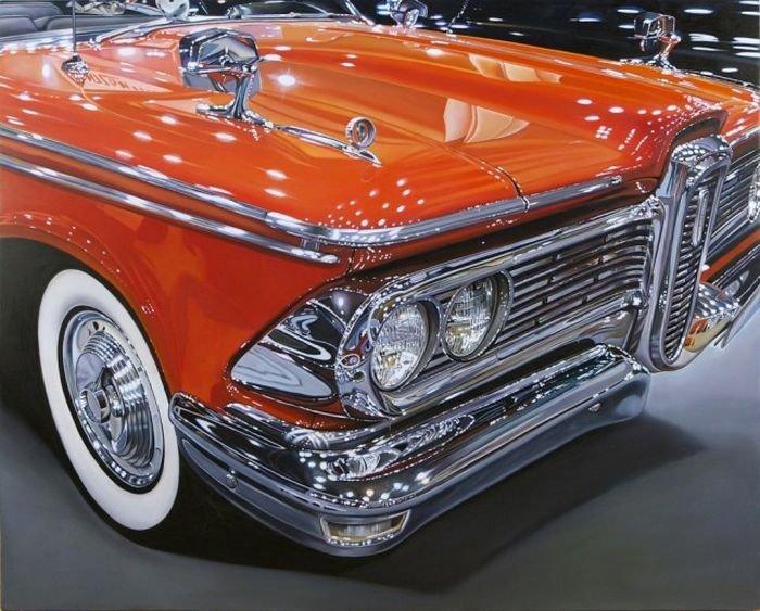 Потрясающие реалистичные рисунки автомобилей (25 фото)