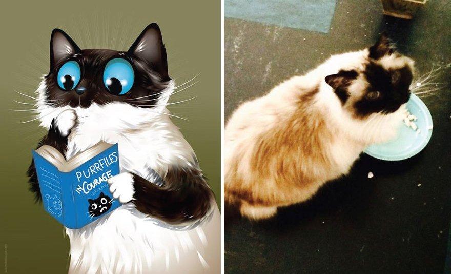 Рисунки домашних животных, созданные по описаниям их владельцев