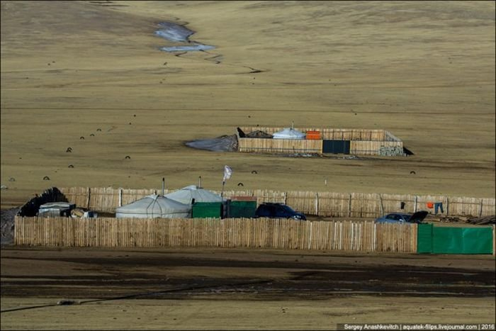 Почему монголы строят заборы вокруг своих юрт в степях (3 фото)