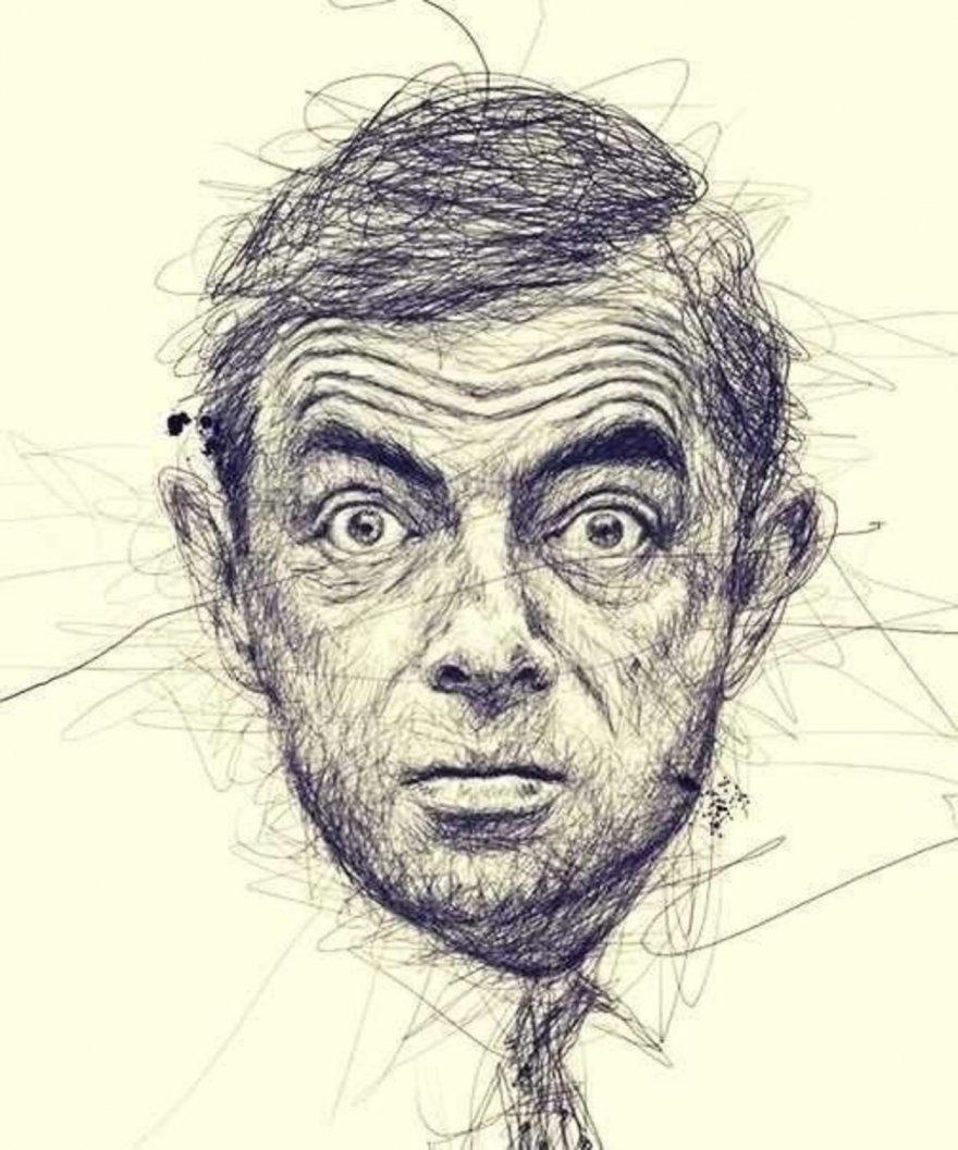 Потрясающие портреты киноактеров, нарисованные ручкой