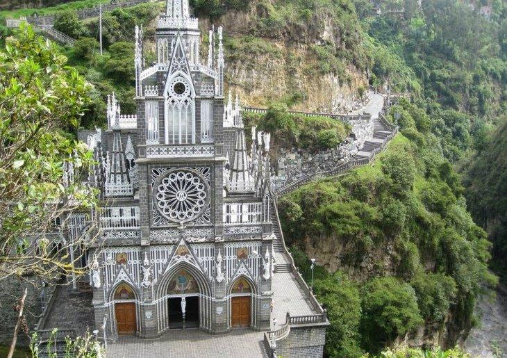 Самые посещаемый собор Лас-Лахас в Колумбии