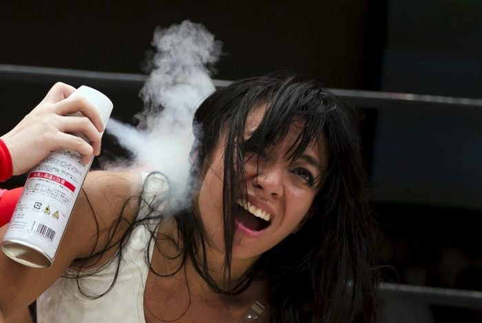 Женский реслинг в Японии (16 фото)