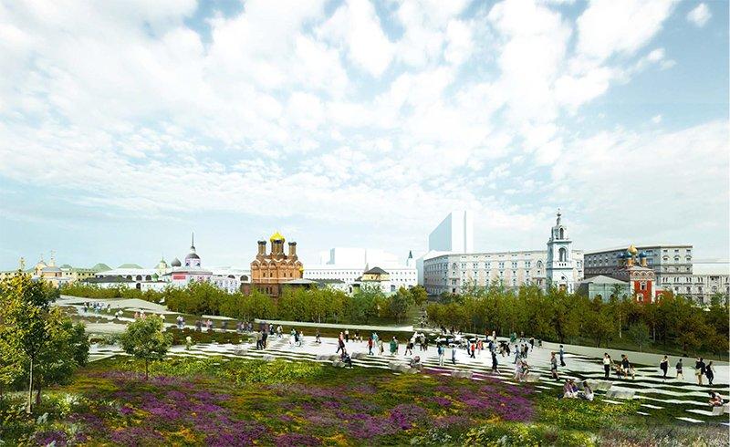 В Зарядье откроют в 2017 году парк