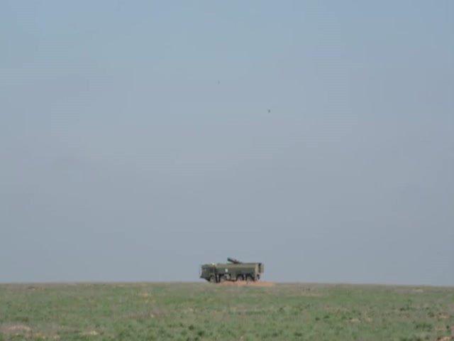 Кадры стрельб ракетного комплекса «Искандер»