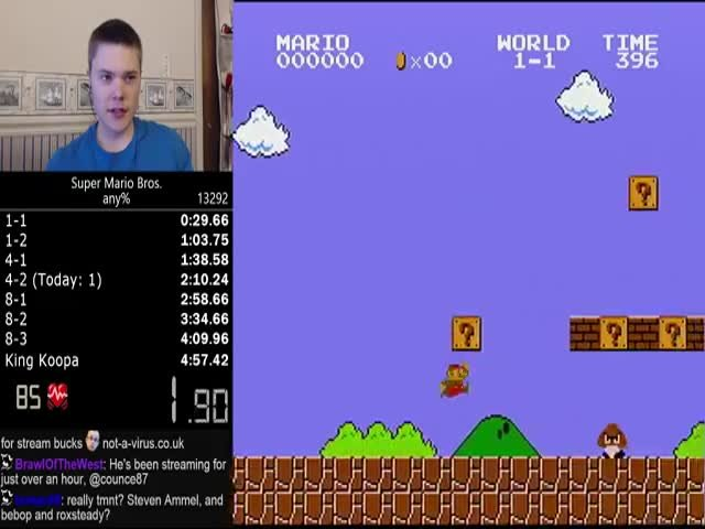 Установлен рекорд по скорости прохождения игры Super Mario