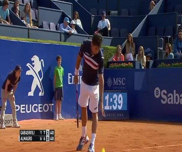 Интересный случай на теннисном турнире в Барселоне